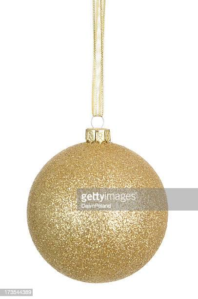Gold Glitter Bauble (XL)