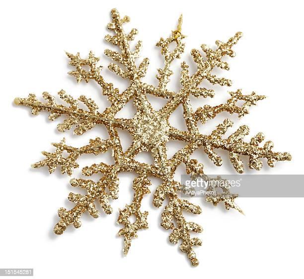 Or flocons de neige à paillettes