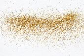 Gold glitter sprinkles