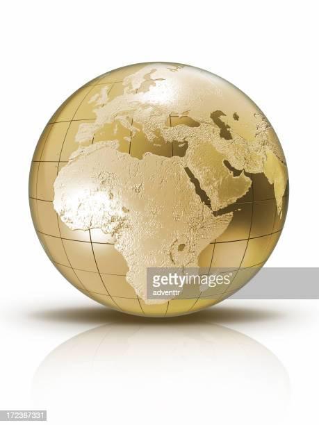 Gold globe