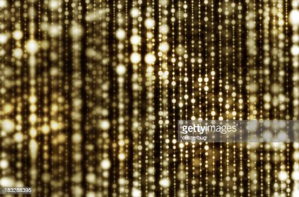 Gold Hanging Light Curtain