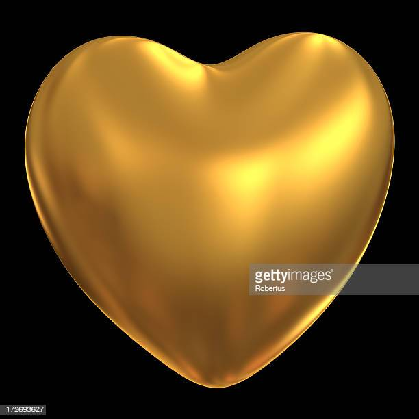Gold heart, clipping path!!