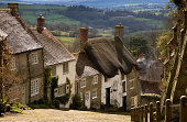 'Gold Hill in Shaftesbury, Dorset, England.'