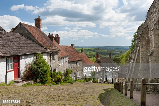 Gold Hill, Shaftesbury, Dorset : Stock Photo