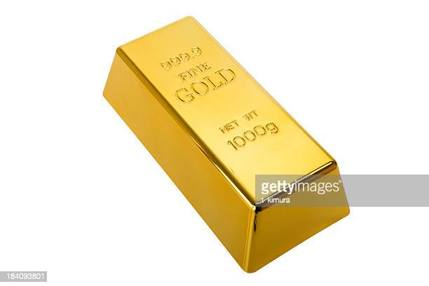 Gold Ingot with clipping path