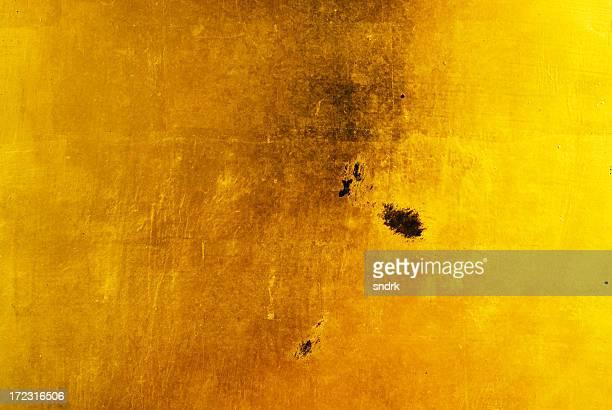 Gold Leaf Background Damaged