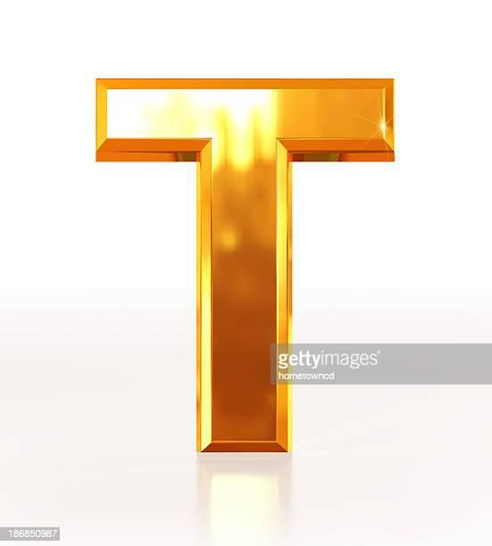 Gold Letter T