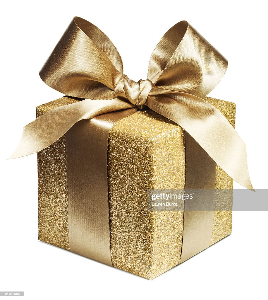 Gold Luxury Gift : Stock Photo