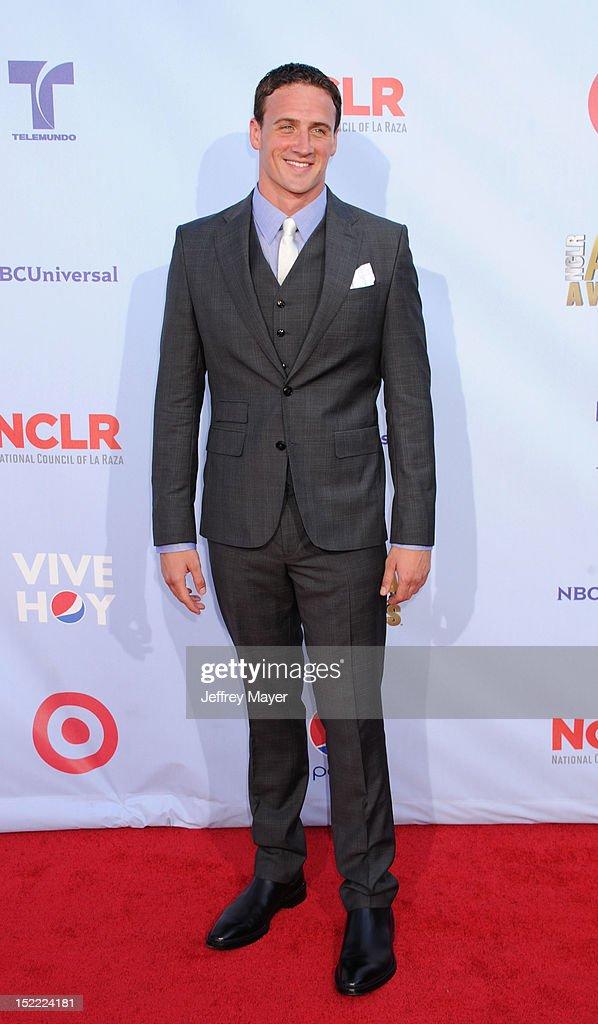 U.S. Gold Medal Olympian, Ryan Lochte arrives at the 2012 NCLR ALMA Awards at Pasadena Civic Auditorium on September 16, 2012 in Pasadena, California.