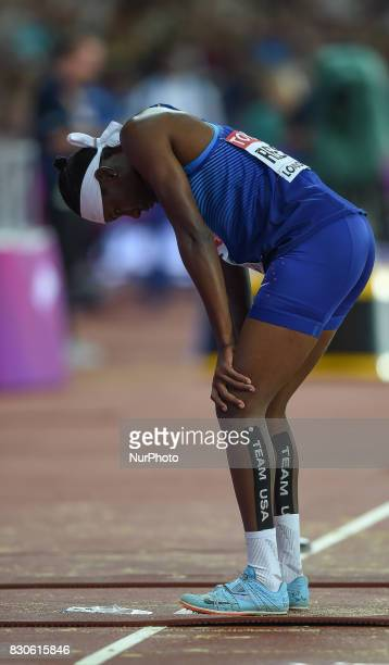 Gold medal winner Brittney Reese of USA after winning the long jump final in London at the 2017 IAAF World Championships athletics at the London...