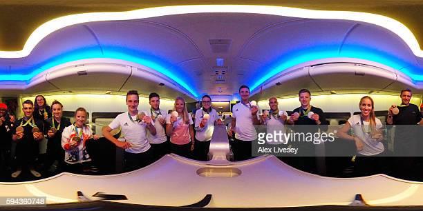 Gold medal winning members of Team GB including Nicola Adams Max WhitlockKatie ArchibaldElinor BarkerAlistair BrownleeCallum SkinnerHelen GloverLiam...