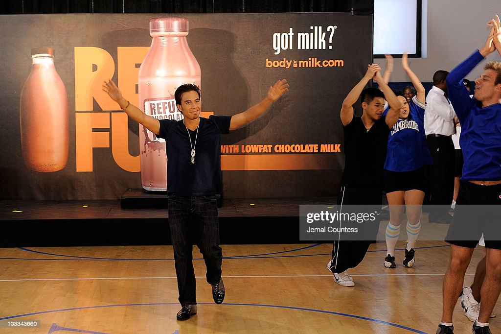 Gold Medalist Apolo Anton Ohno launches the Refuel America Program and unveils the newest Milk Mustache ads at the 92nd Street Y on August 11, 2010 in New York City. Gold medalists Chris Bosh, Apolo Anton Ohno and Shawn Johnson teamed up today to announce a new campaign highlighting the importance of refueling with lowfat chocolate milk during the two-hour recovery window after exercise.