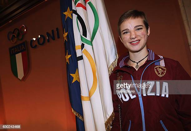 Gold medalist Beatrice Maria Vio of Rio 2016 Paralympic Games attends the Italian Olympic Commitee 'Collari d'Oro' Awards at Foro Italico on December...