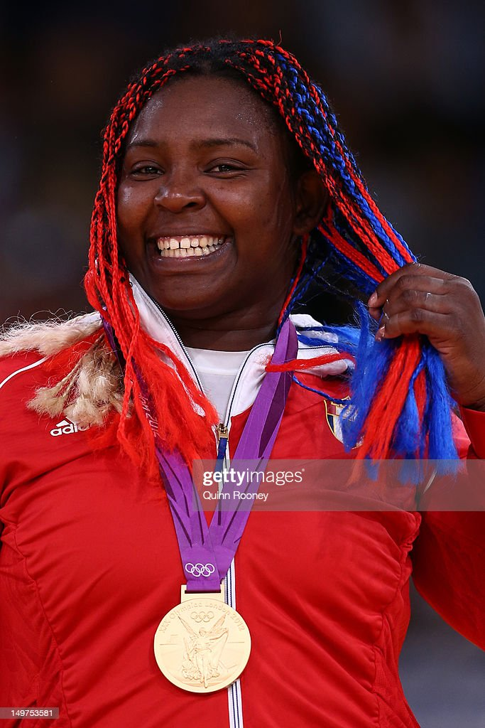 Gold medalist <a gi-track='captionPersonalityLinkClicked' href=/galleries/search?phrase=Idalys+Ortiz&family=editorial&specificpeople=5492242 ng-click='$event.stopPropagation()'>Idalys Ortiz</a> of Cuba in the Women's +78 kg Judo on Day 7 of the London 2012 Olympic Games at ExCeL on August 3, 2012 in London, England.