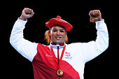 Gold medalist Joseph Joyce of England poses during the medal ceremony for the Men's Super Heavy Final at SSE Hydro during day ten of the Glasgow 2014...
