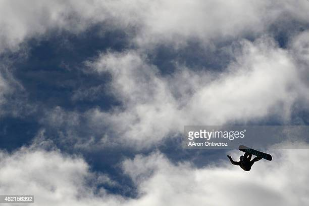 Gold medalist Mark McMorris during the men's snowboard slopestyle final Winter X Games on Sunday January 25 2015