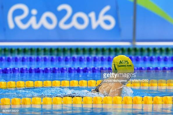 Gold medalist Tiffany Thomas Kane of Australia competes in the Women's 100m Breaststroke SB6 Final on day 8 of the Rio 2016 Paralympic Games at...
