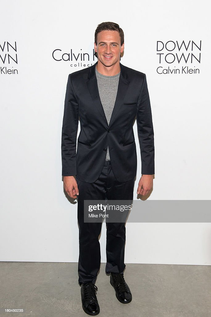 Gold medalist US swimmer Ryan Lochte attends the Calvin Klein Collection Spring 2014 after party at Spring Studios on September 12, 2013 in New York City.