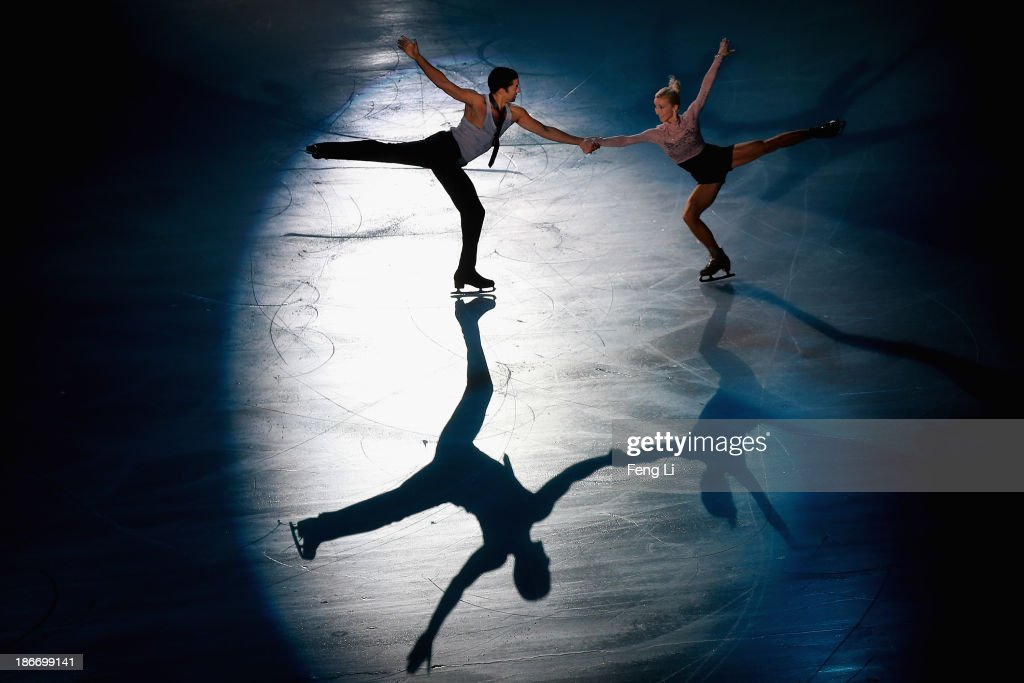Gold medalists Aliona Savchenko and Robin Szolkowy of Germany perform during Lexus Cup of China ISU Grand Prix of Figure Skating 2013 at Beijing Capital Gymnasium on November 3, 2013 in Beijing, China.
