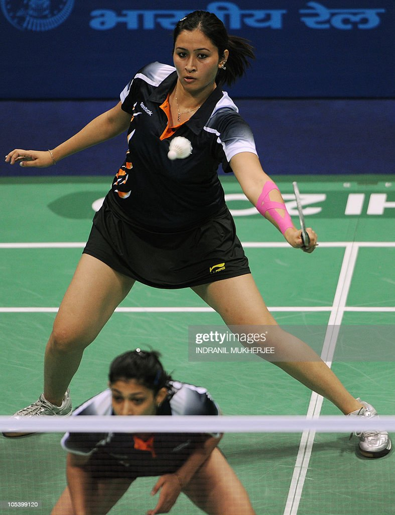 Gold medalists Jwala Gutta back and As