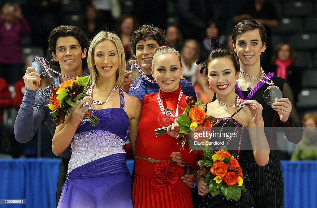 Gold medalists Vanessa Crone and Paul Poirier of Canada silver medalists Sinead Kerr and John Kerr of Great Britain and Bronze medalists Madison...