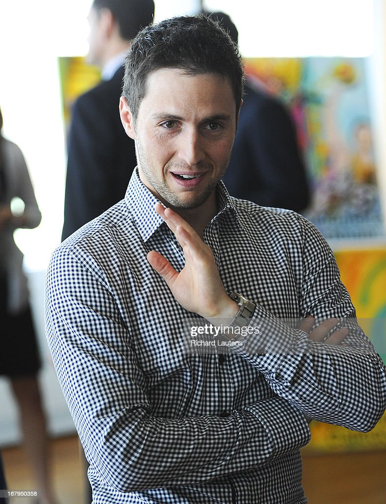 Gold Medallist Alexandre Bilodeau chats during the lunch break. Dozens of Canadian athletes came out to the offices of the Toronto2013 Pan Am games for an information session. They listened to speeches on the progress of the construction, what to expect and a keynote address from Gold medal Olympian Alexandre Bilodeau. Some went on to tour the construction site.