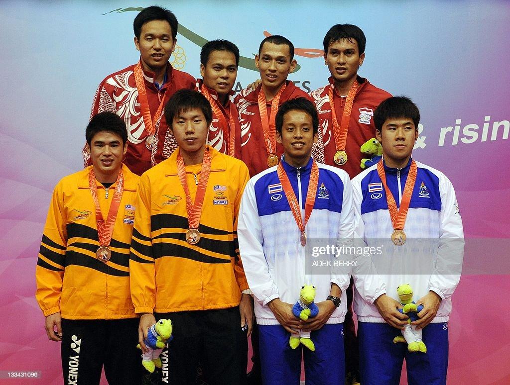 Back R Gold medallists Bona Septano an