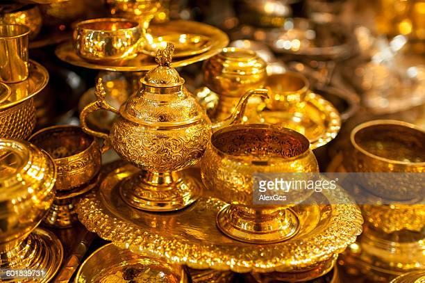 Gold merchandise, Yangon, Myanmar