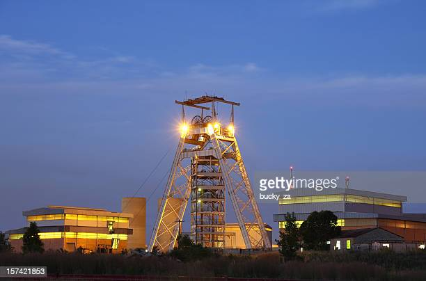 Gold mine head gear and production plant, South Africa