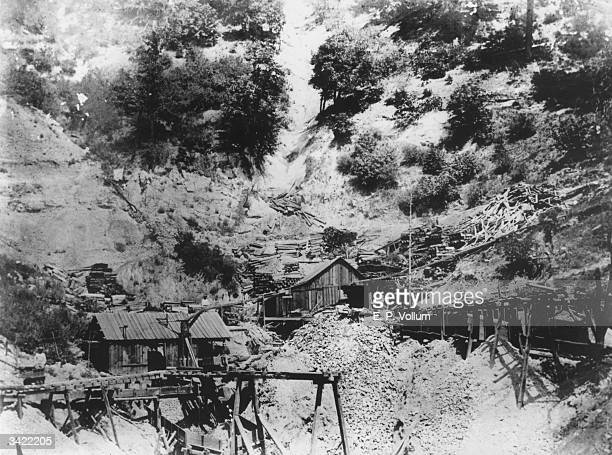 Gold mining operations in California