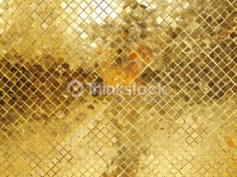 Gold Mosaic Tile Texture Stock Photo
