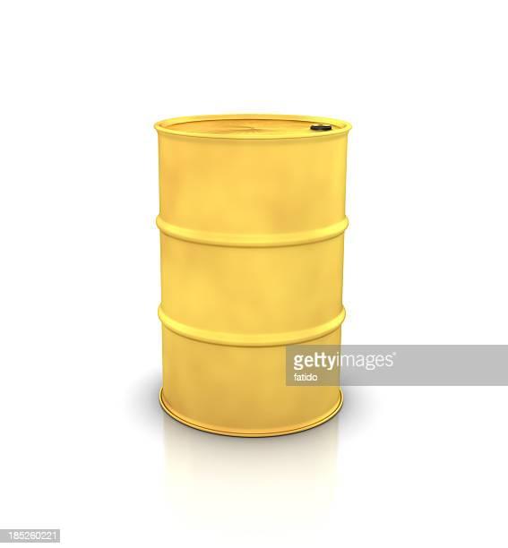 Gold Oil Drum