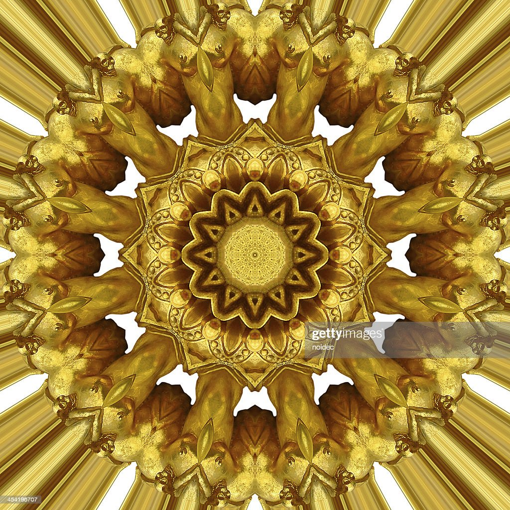 Gold ornament : Stock Photo