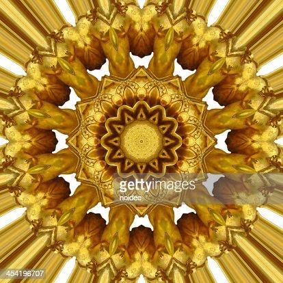 Gold ornament : Stock Photo