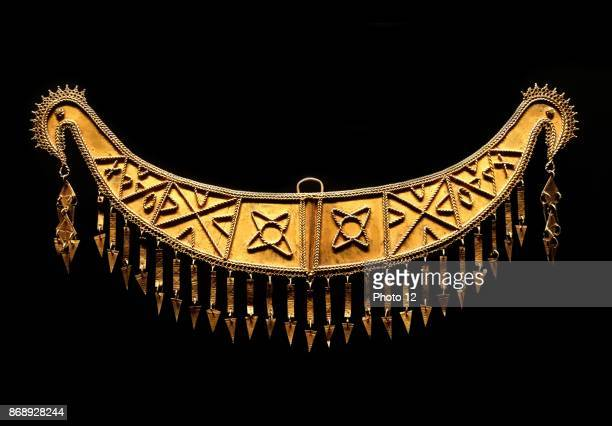 Gold ornament produced by the Nias people native to Nias an island off the west coast of North Sumatra Indonesia early 20th century