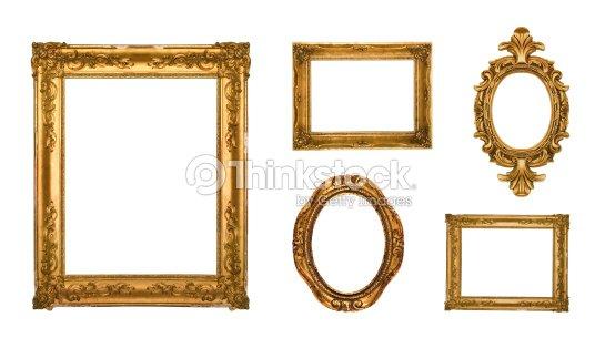 e6b62044844 Gold ornate frames   Stock Photo
