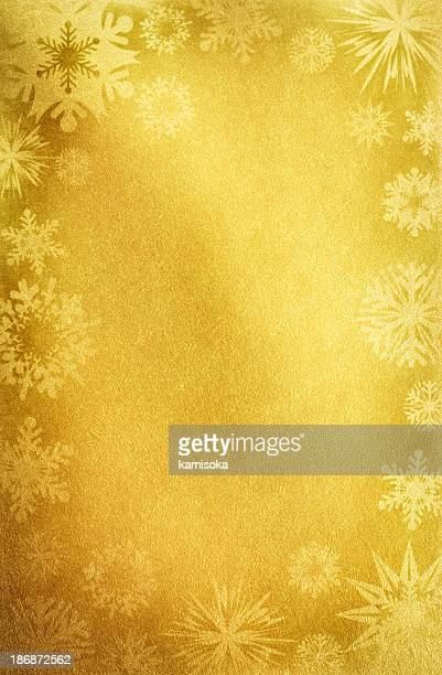Gold Paper With Snowflakes