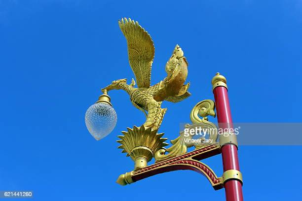 Gold phoenix floor lamp Bangkok Thailand