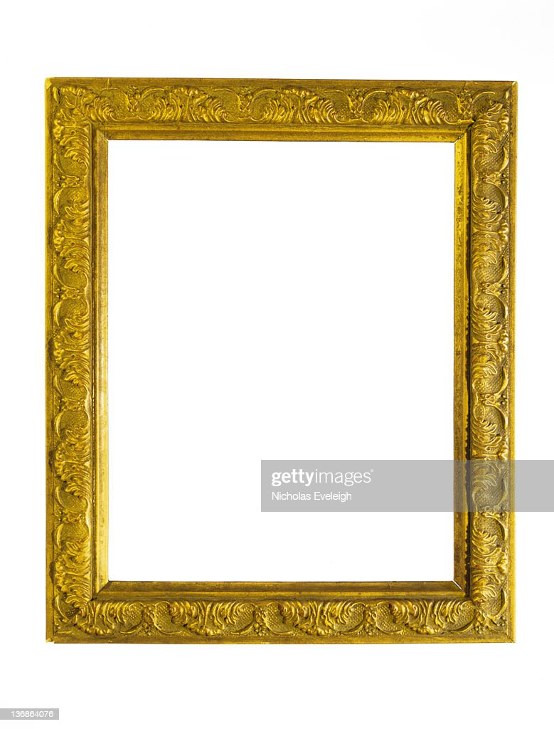 Gold picture frame : Stock Photo