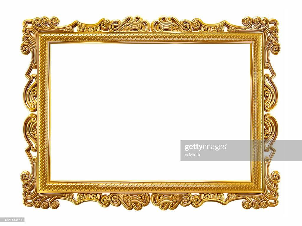 Gold Picture Frame Stock Photo : Getty Images