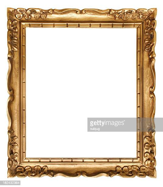 Gold picture frame without a painting