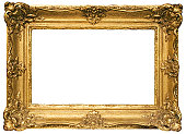 Baroque picture frame to put your own pictures in. File contains clipping path