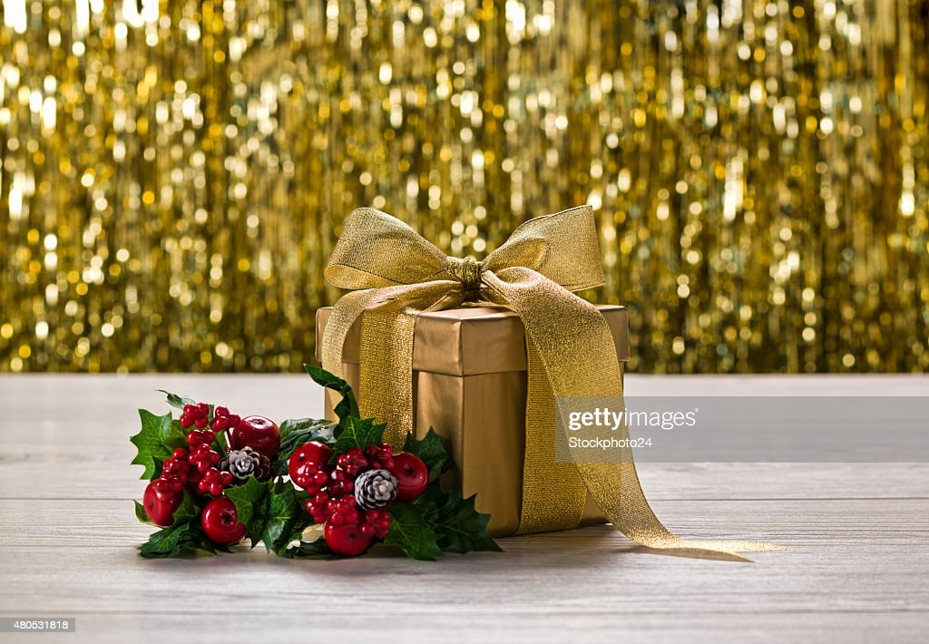 Gold present and holy : Stock Photo