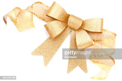 Gold Present Bow