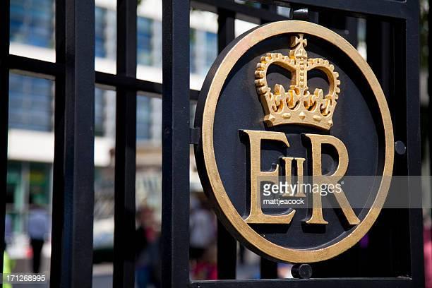 Gold Queen Elizabeth II emblem