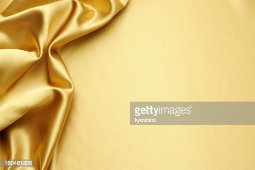Gold satin texture background with copy space