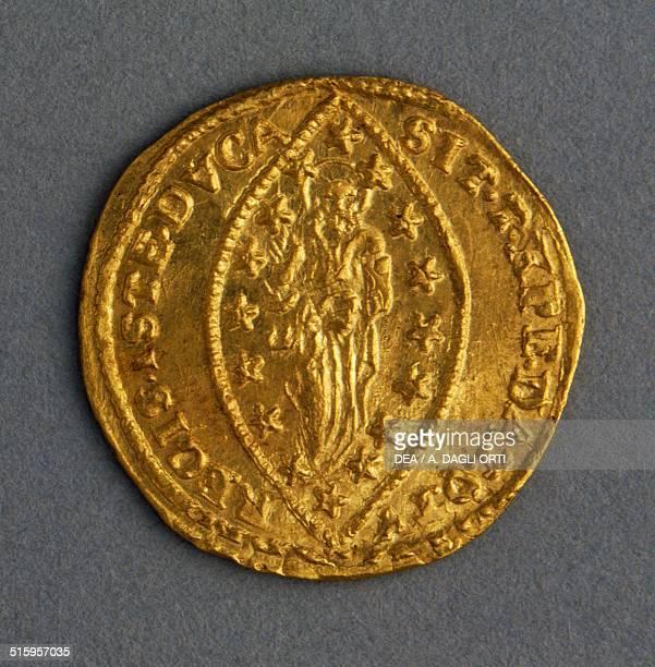 Gold sequin Doge Ludovico Manin reverse Christ in almond Venice 18th century Padova Musei Civici Eremitani Palazzo Zuckermann Museo Bottacin