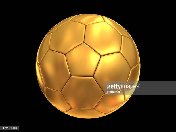 gold soccer ball with clipping paths