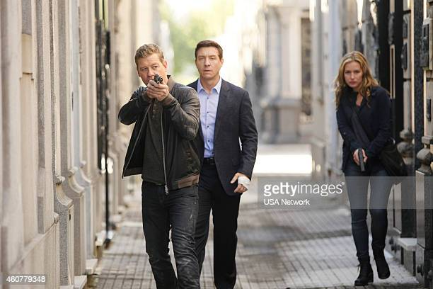 AFFAIRS 'Gold Soundz' Episode 516 Pictured Nic Bishop as Ryan McQuaid Shawn Doyle as Belenko Piper Perabo as Annie Walker
