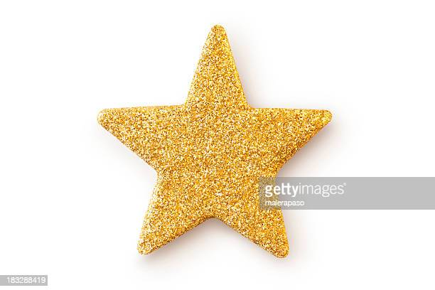 Gold star. Christmas decoration.